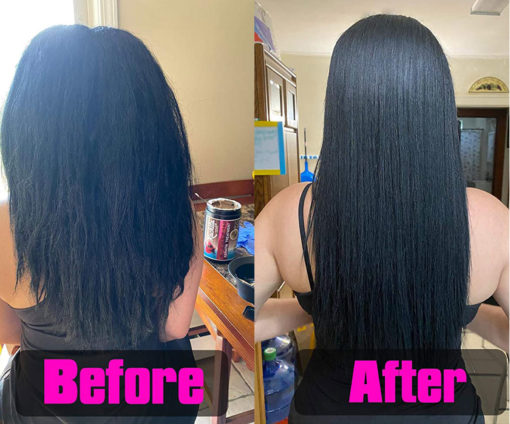 Keratin Chocolate Strong+ Edition 32oz Before and After