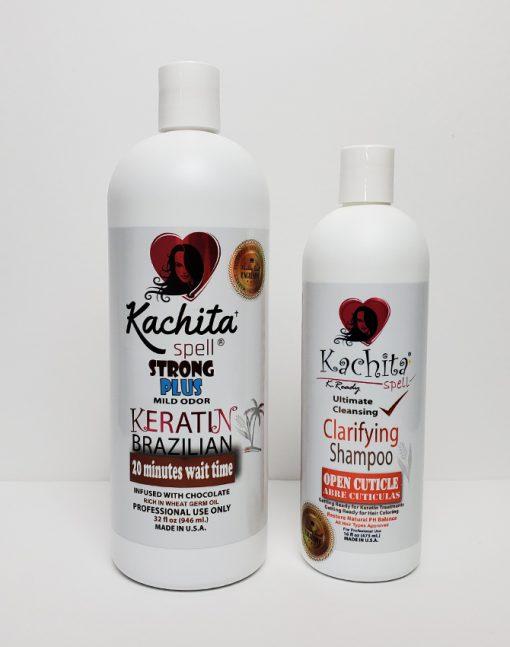 Keratin Chocolate Strong Plus 32oz + Clarifying Shampoo K-Ready 16oz
