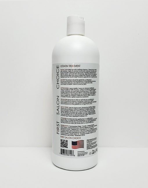 Keratin Chocolate Strong Plus 32oz Label