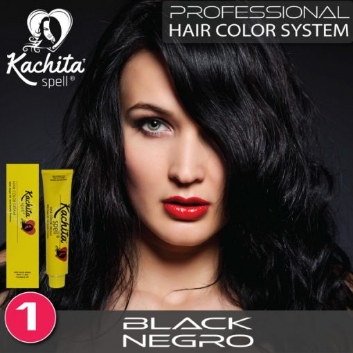 Black 1 Hair Color Cream Kachita Spell