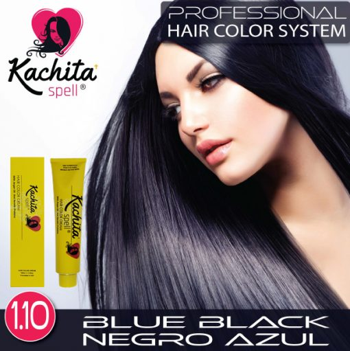 Blue Black 1.10 Hair Color Cream Kachita Spell