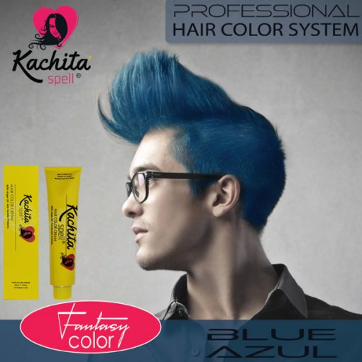 Blue Fantasy Shade Hair Color Cream Kachita Spell
