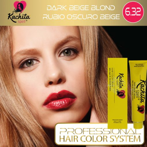 Dark Beige Blond 6.32 Hair Color Cream Kachita Spell