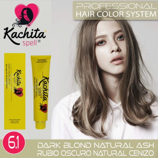 Dark Blond Natural Ash Hair Color Cream Kachita Spell