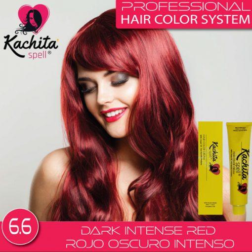 Dark Intense Red 6.6 Hair Color Cream Kachita Spell