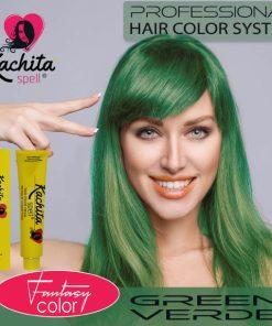 Green Fantasy Shade Hair Color Cream Kachita Spell