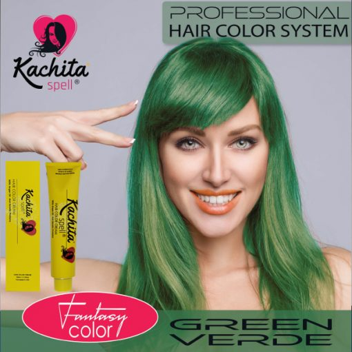 Green Fantasy Shade Hair Color Cream Kachita Spell