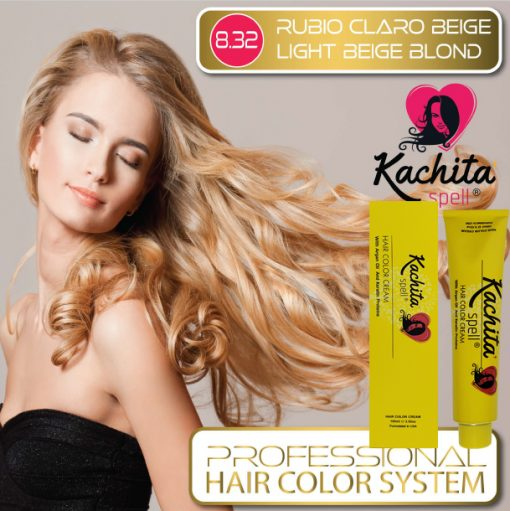 Light Beige Blond 8.32 Hair Color Cream Kachita Spell