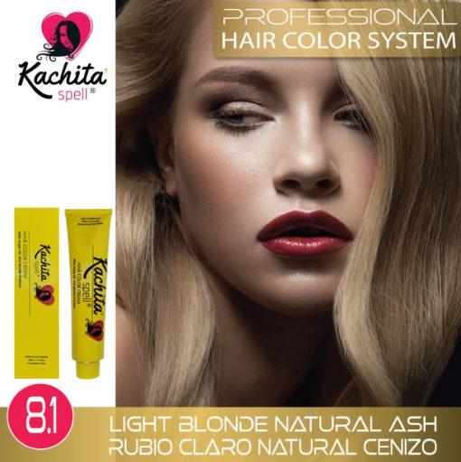 Light Blond Natural Ash 8.1 Hair Color Cream Kachita Spell