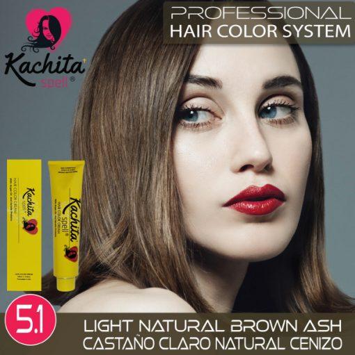 Light Natural Brown Ash 5.1 Hair Color Cream Kachita Spell