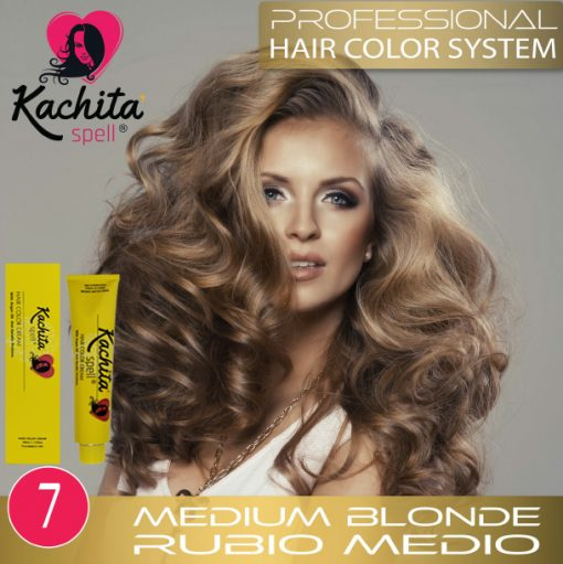Medium Blond 7 Hair Color Cream Kachita Spell