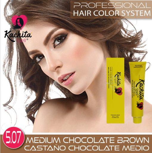 Medium Chocolate Brown 5.07 Hair Color Cream Kachita Spell