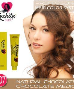 Natural Chocolate 7.07 Hair Color Cream Kachita Spell