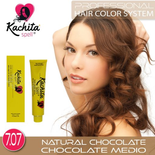 Natural Chocolate 7.07 Hair Color Cream Kachita Spell