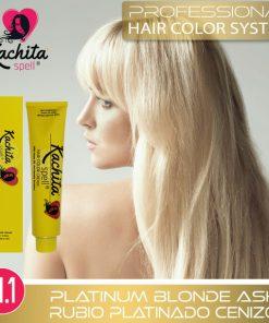 Rubio Platinado Cenizo 11.1 tintes para cabello de Kachita Spell