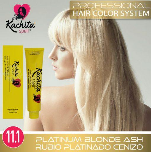 Platinum Blond Ash 11.1 Hair Color Cream Kachita Spell