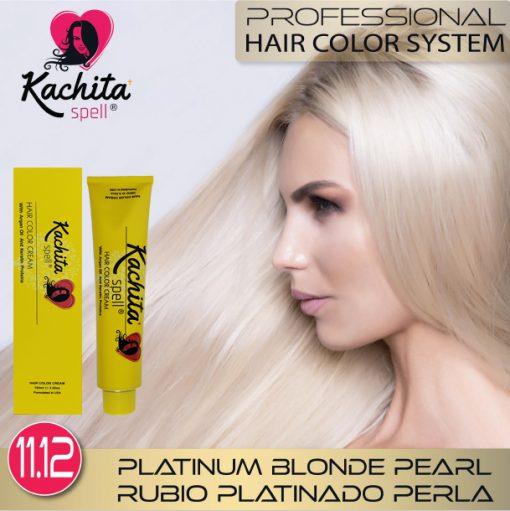Platinum Blond Pearl 11.12 Hair Color Cream Kachita Spell