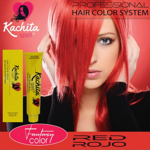Red Fantasy Shade Hair Color Cream Kachita Spell
