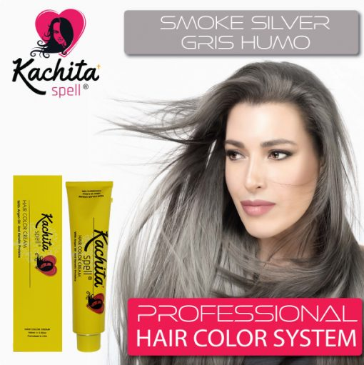 Smoke Silver Shade Hair Color Cream Kachita Spell