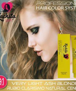 Very Light Ash Blond 9.1 Hair Color Cream Kachita Spell