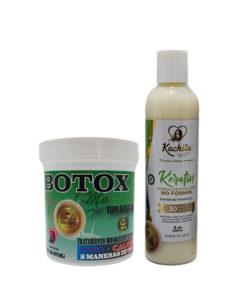 Kit Keratin Formaldehyde Free 8 oz + Hair Botox 16oz Hair Treatment Capillary Rejuvenating System Formaldehyde Free