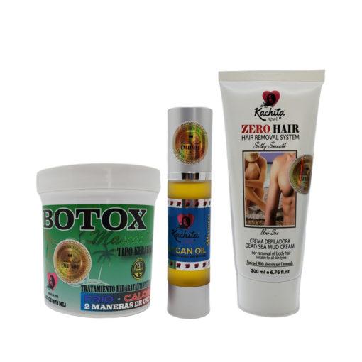 Hair Botox + Moroccan Argan Oil + Zero Hair Removal System Depilatory Cream