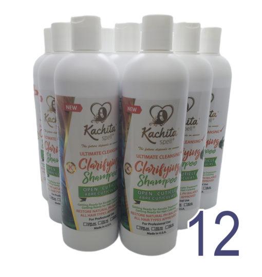 12 Pack New Clarifying Shampoo K-Ready 16oz